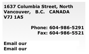 1637 Columbia Street, North Vancouver,   B.C.   CANADA  